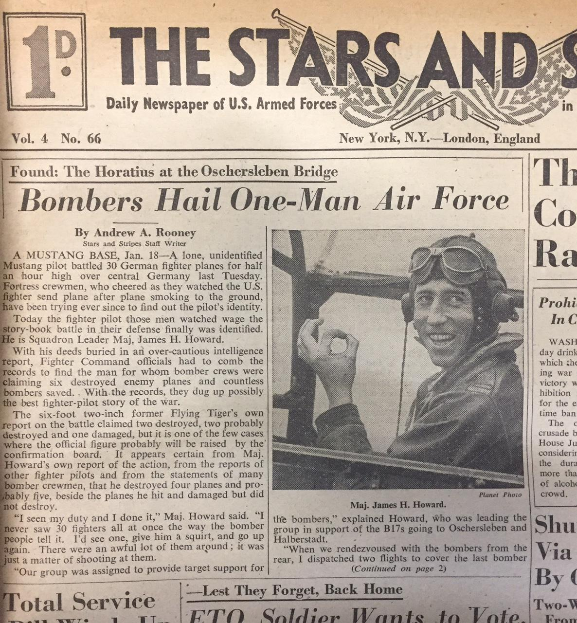 Front Page of the January 19, 1944 issue of The Stars and Stripes