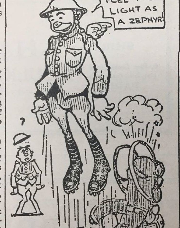 Cartoon from the WWI Stars and Stripes.